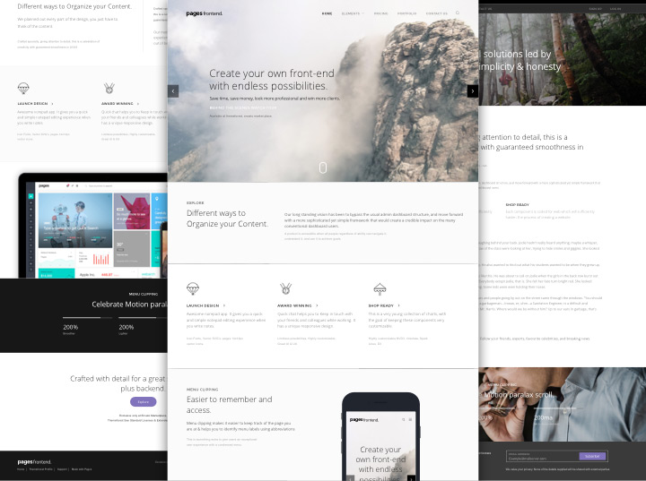 how to create ui in a website