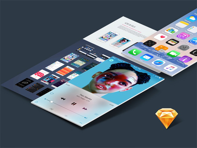 iOS 9 UI kit for Sketch #2 - Visualworks